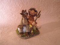 Le Loup Garou et villageois de Thiercelieux en porcelaine froide
