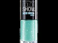 Lilac Rebel, Bleached Blue, Mint Acid-itude, Ripped Tide et un top coat Top Splatter