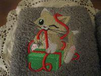 Serviettes invités avec chatons kawaï