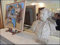 Expo au musée A. Dumas de ses élèves.