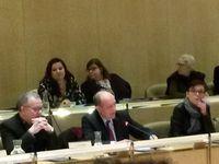 Réunion de présentation du rapport d'enquête aux membres du conseil municipal, le 27 févrrier 2017.