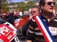 Marche contre l'austérité, à République