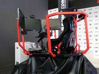 De gauche à droite : Le Simulator Two, le T2 (avec survirage) et le T6