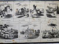 loto géographique, cartons lithographiés 21 x 14 cm