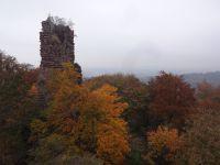 le château du Greifenstein. Vue sur la vallée.