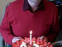 Le poullailler, Papy JiP et sa tarte aux fraises d'anniversaire
