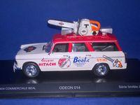 Peugeot 404 Commerciale BEAL avec tronçonneuse Tour de France 1966 - Odeon 1/43
