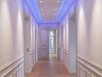 Du blanc et bleu dans un appartement Haussmannien  Paris 16 em  Philippe Ponceblanc architecte d'intérieur