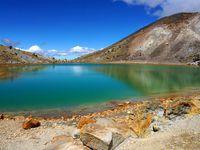 Les célèbres Emerald Lakes aux couleurs éclatantes