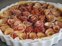 Tarte aux pommes bouquet de roses sans gluten