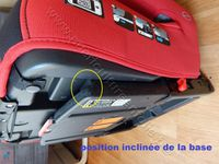 SYSTEME BASE ISOFIX ET INCLINAISON