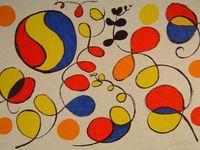 Voici les trois oeuvres de Calder pour l'atelier 1 ainsi que les images en noir et blanc des animaux de l'album pour l'atelier 2. Je joins par la même occasion le dessin de Petit Ours.