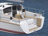 Images de synthèse et plans d'aménagement du nouveau voilier Sirius 40DS