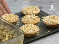 Menu Samira tv, Algérie - Crème aux crevettes + paupiettes de dinde à la crème béchamel + Amandine