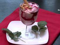 Menu, Samira tv, Algérie - Sépia à la crème + Filets de maquereau + Mousse aux fraises