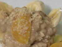 Menu Samira tv, Algérie - Mousse de crevettes + Espadon à la pomme de terre + Tarte à la crème de banane et à l'orange