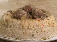 Menu du jour, Samira tv, Algérie - Mille-feuille salé  + Boulettes de viande au riz + Baba