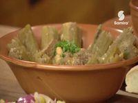 Menu du jour, Chorba foul + Dolma Khourchef + Salade variée, Samira tv, Algérie