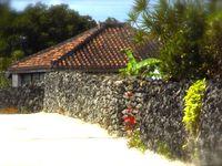 Les arêtes des toits sont renforcées afin de les protéger des vents violents des typons fréquents dans cette région