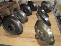 Acier décapé et brossé - métal massif - très belles pièces !!