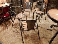 Vrai Tolix ancien - fer et bois - intégralement restaurés.