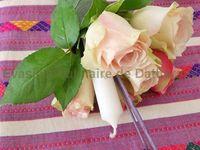 Traditionnellement lao : un cornet en feuille de bananier composé de roses, encens et bougie. (lors d'une cérémonie religieuse, offrandes,...)