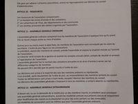 Statuts et infos de mon association