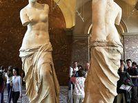 La vénus de Milo ou Aphrodite sculptée par les grecs, et moi (on ne voit pas bien mais même profil...)