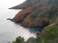 L'Esterel depuis la route côtière qui va à Cannes