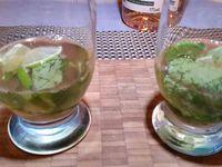1 - Prendre 2 verres à cocktail, mettre dans chacun d'eux : 4 à 5 feuilles de menthe fraîche (lavée et séchée), une rondelle de citron vert coupée en quatre. Ecraser légèrement le tout avec le dos d'une cuillère. Verser pour chacun 10 cl environ (selon vos goûts) de Pineau blanc des Charentes, compléter avec du Schweppes indian tonic. Terminer en décorant les verres d'une rondelle de citron et d'un brin de menthe.