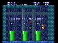Warp zone et niveau 5-1 enneigé. Je cause même pas des ennemis retorts.