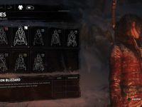 Une Lara mouillée, et les évolutions d'armes, de vetêments, la carte, les ressources, et le feu de camp.