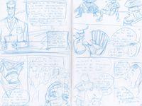 Bocetos páginas interiores Canutoman N° 4