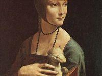 A.Katz «Green cap», 1985 / L.Vinci « La dame à l'hermine » 1490./ Revues de mode américaine, 1929-1932