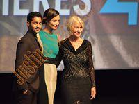 Michel Denisot spectateur averti. Helen Mirren, Charlotte Le Bon et Manish Dayal réunis sur scène pour lancer le film !