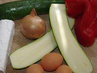 Clafoutis courgettes, poivrons &amp&#x3B; chèvre