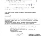 Maths : Proportionnalité