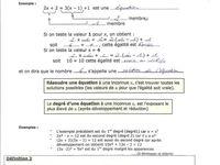 Maths : Équations à une inconnue
