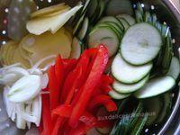 tortilla à la pomme de terre, courgette et poivron -LIGHT-