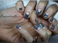 Nail Art  &quot&#x3B;plissé style secrétaire&quot&#x3B;