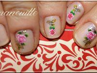 Nail Art &quot&#x3B; tite rose fraîche&quot&#x3B;