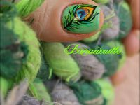 Nail Art &quot&#x3B;plume de paon&quot&#x3B;