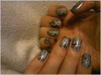 Nail art Water Marble holographic ( 1er ) et water Decal....