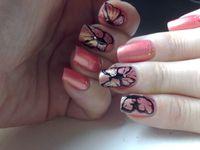 Nail Art papillons au gel paint noir....
