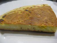 Crêpe épaisse aux pommes de terre, poireau et boursin