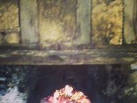 Préchauffage du faour à pain à La Commanderie Saint Jean d'Artins