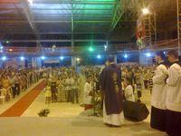 Campo Grande : messe avec Mgr Sevilha