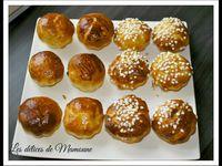 Briochettes et pains au lait au sucre et pépites de chocolat comme chez le boulanger