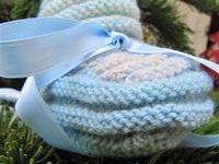 chaussons bébé au tricot