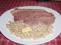Battage des mogettes - jambon/mogettes